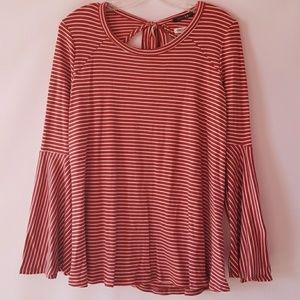Papermoon Tops - NWT Papermoon striped bell sleeve knit top